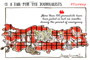 World famous Indian cartoonist launches campaign for jailed journalists in Turkey