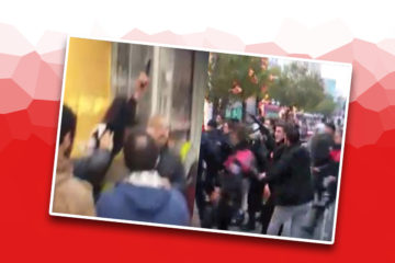 VIDEOS– Policeman pulls out gun as people call for 'no' to constitutional amendments