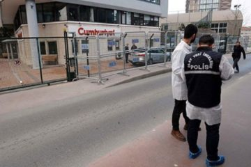 Gun shootings target opposition daily Cumhuriyet