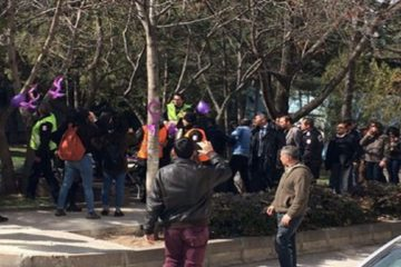 Police detain 10 students who set up stand for Int'l Women's Day