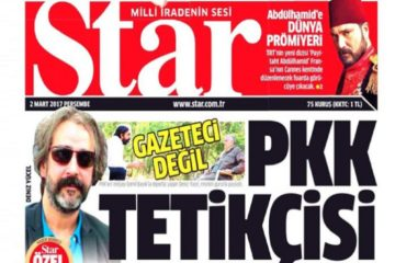 Pro-gov't Star daily says jailed Die Welt reporter 'not a journalist, a PKK hit-man'