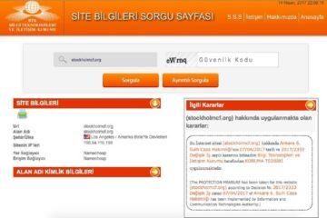 SCF's website blocked in Turkey