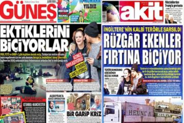 Turkish pro-Erdoğan dailies say Manchester attack result of UK support for ISIL