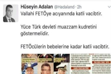 Pro-gov't journalist says killing Gülen followers, even their babies a religious obligation