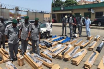 Illegal arms shipped from Turkey seized in Nigeria