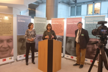Exhibition in EP exposes plight of Turkish journalists behind bars on World Press Freedom Day