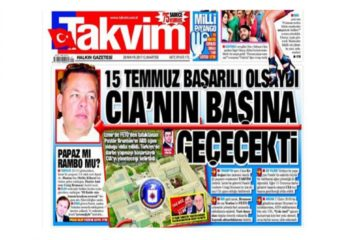 Pro-Erdoğan daily on jailed pastor Brunson: 'CIA pastor' engineered coup attempt in Turkey