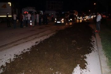Truckload of manure dumped near CHP 'March of Justice' camp in Düzce