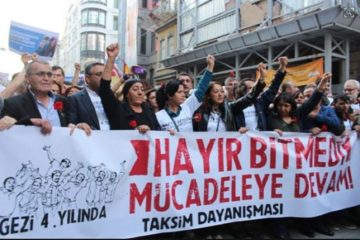 Thousands commemorate Gezi Park protests in İstanbul's İstiklal Street on 4th anniversary