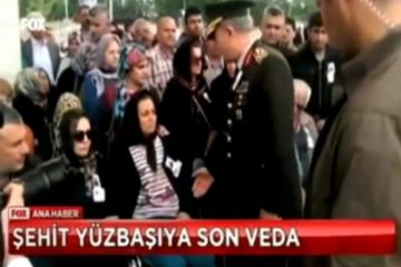 Slain captain's wife refuses to shake hands with Turkish army chief Akar