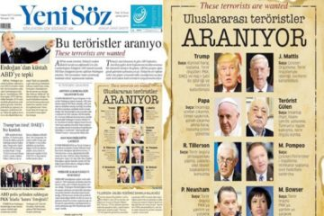 Turkey's pro-Erdoğan daily lists Pope and Trump as terrorists in its front page