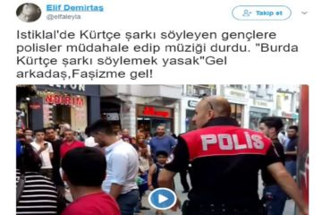 Turkish police briefly detain 2 youngsters for singing Kurdish songs in İstanbul