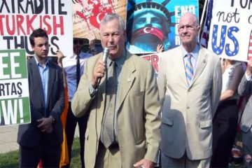 US Congressmen protest Erdoğan at Turkish ambassador's Washington residence