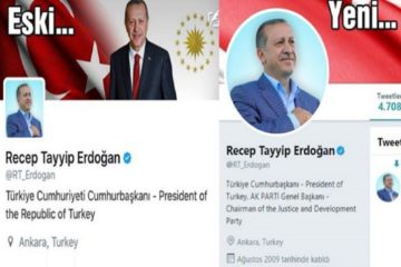 Turkey's autocratic President Erdoğan removes 'Republic' from his title on Twitter account
