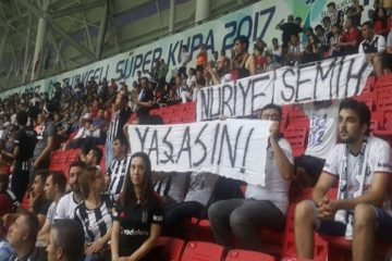 Turkey issues detention warrants for 17 football fans over banner for supporting hunger strikers
