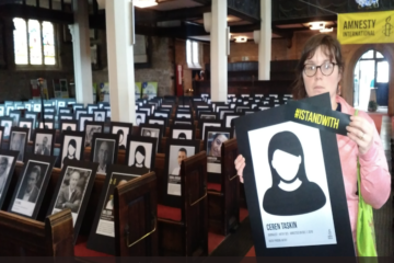 Amnesty Kirklees opens Silenced Voices Exhibition to show solidarity with jailed/exiled Turkish journalists