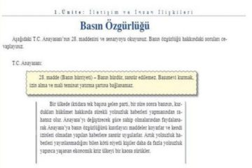 Turkey's Education Ministry recalls textbooks due to page on press freedom