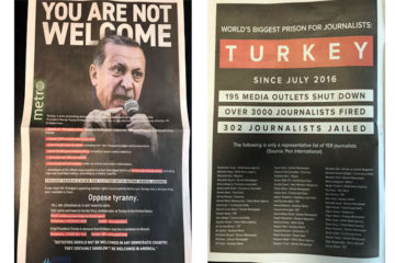 HRF advertises in NYC daily, launches #Erdoganout campaign during UNGA