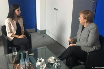 German Chancellor Merkel meets with wife of jailed Turkish journalist Deniz Yücel