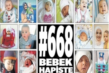 A campaign of awareness organised worldwide for #668Babies in Turkish prisons