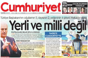 Turkish PM, sons, sue for alleged damages from Cumhuriyet over Paradise Papers
