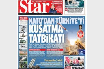 Pro-Erdoğan daily: New NATO drill in Mediterranean targets Turkey