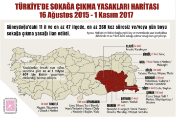TİHV: Turkish gov't declares 268 curfews in 47 districts in 11 provinces in 2 years