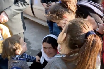 Three Yezidi girls, left by ISIL in Turkey, handed over to their families in Syria