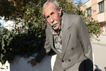 This time house of an Alevi family in Turkey's Manisa province marked with red cross