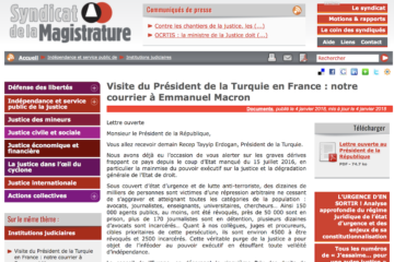 France Judicial Union urges Macron to require Erdoğan to release jailed lawyers