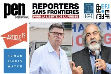 Int'l press bodies urge Turkish gov't to implement Constitutional Court decision to free journalists