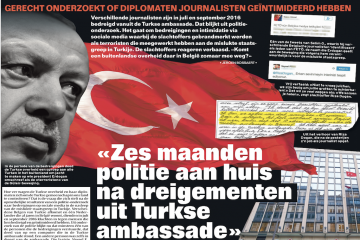 Turkish Embassy turns out to be source of threats sent to journalists in Belgium