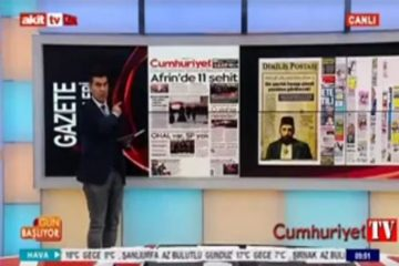 Pro-Erdoğan TV presenter threatens Cumhuriyet daily over Afrin story