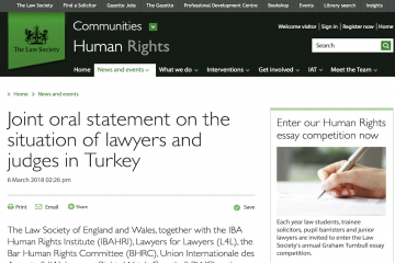 Int'l bar associations urge Turkish gov't to stop arbitrary detentions, torture