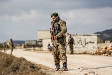 Hundreds of families flee Syrian town of Afrin under Turkish military attack
