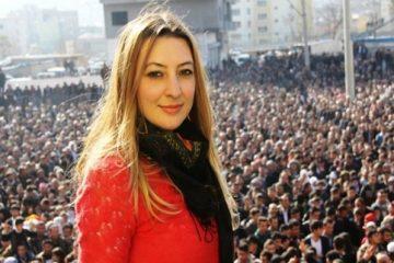 Leyla İmret, a dismissed pro-Kurdish mayor in Turkey, gives speech at CoE