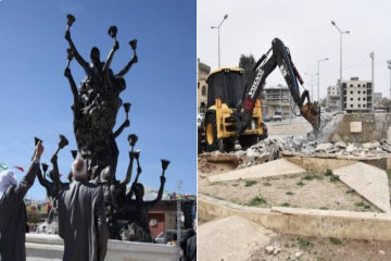 Turkish gov't demolishes monument erected in memory of 1992 mass killing of Kurds in Nusaybin