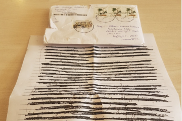 Letter sent by jailed lawyer completely censored by Turkish prison authorities